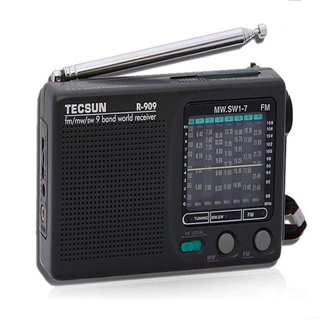 Высокое Качество Портативный Tecsun R-909 Радио Full Band FM/AM/SW/LW Стерео Радио