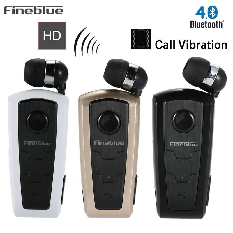 100 original fineblue f910 wireless bluetooth v4 0 headset in ear vibrating alert wear clip. Black Bedroom Furniture Sets. Home Design Ideas