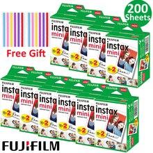 20-100 листов Fuji Fujifilm Instax Mini 9 пленочные фотобумаги с белыми краями 10-200 шт для мгновенной мини 8 7s 25 50s 9 90 камеры