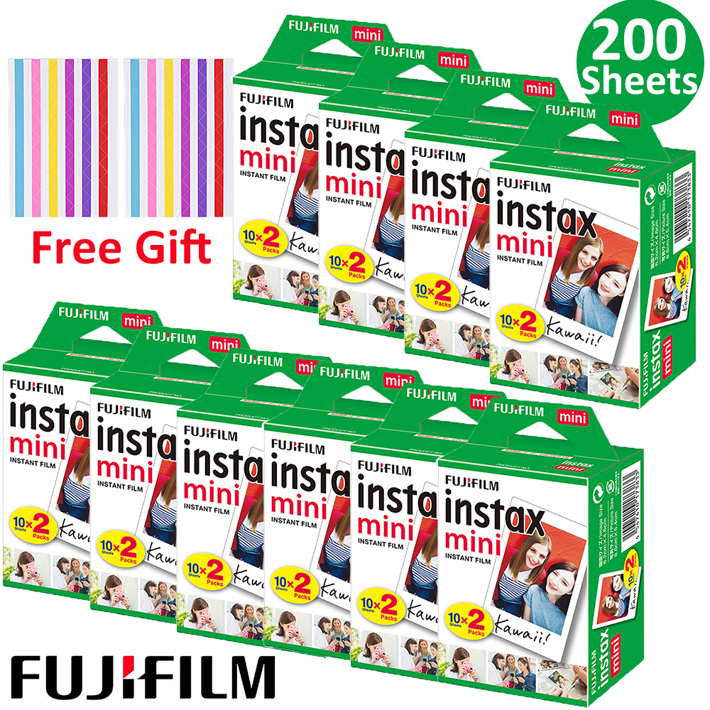 20-100 folhas fuji fujifilm instax mini 9 filmes de papel fotográfico de borda branca 10-200 pces para câmera instantânea mini 8 7s 25 50s 9 90