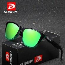 DUBERY Square Mirror Polarized Sunglasses Men New Brand Design Vintage Summer Male Sun Glasses For Driver Shades Oculos D181