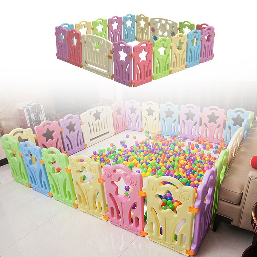 Kids Playground Baby Fence Indoor Park Family Amusement Toys For Children Safety Playpen For Baby Barriere De Securite Ball Pit