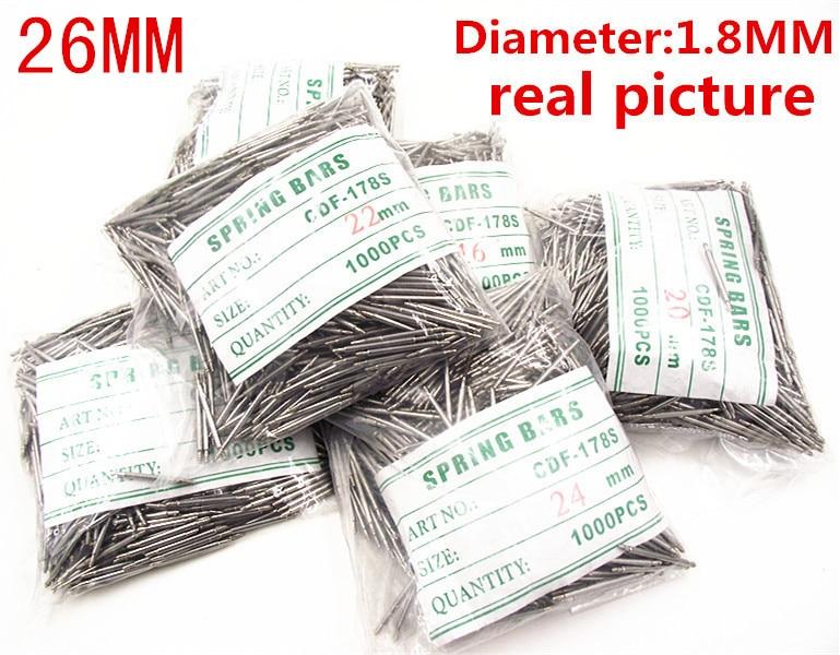 Wholesale 1000PCS / Bag High Quality Watch Repair Tools & Kits 26MM  Spring Bar Watch Repair Parts Diameter 1.8MM - BS901