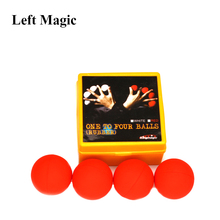 лучшая цена Best One Ball To Four Magic Tricks( White / Red) Soft Rubber Multiplying Balls Stage Magic Props Magic Sets Magician Accessori