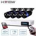 H. view Sicherheit Kamera System 4ch CCTV System DVR Sicherheit System 4CH 1 TB 4x1080 P Sicherheit Kamera 2.0mp kamera DIY Kits