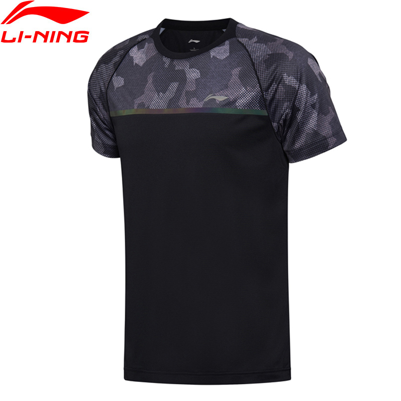 (Break Code)Li-Ning Men Badminton T-Shirts Breathable Competition Top Comfort Li Ning LiNing Sports T-Shirt AAYN161 MTS2714