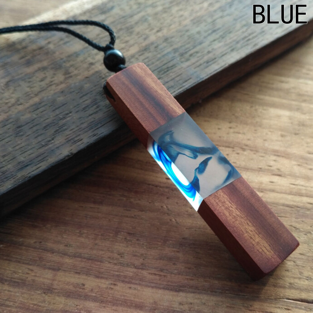 1pcs hot sale Fashion Women Men Necklace Handmade Vintage Resin Wood Necklaces Pendants Long Rope Wooden Necklace Jewelry