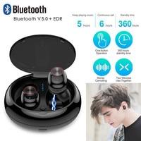 Bluetooth 5.0 Headset Wireless Earbud TWS Mini True Stereo Earphone Bass In Ear Headset O.26