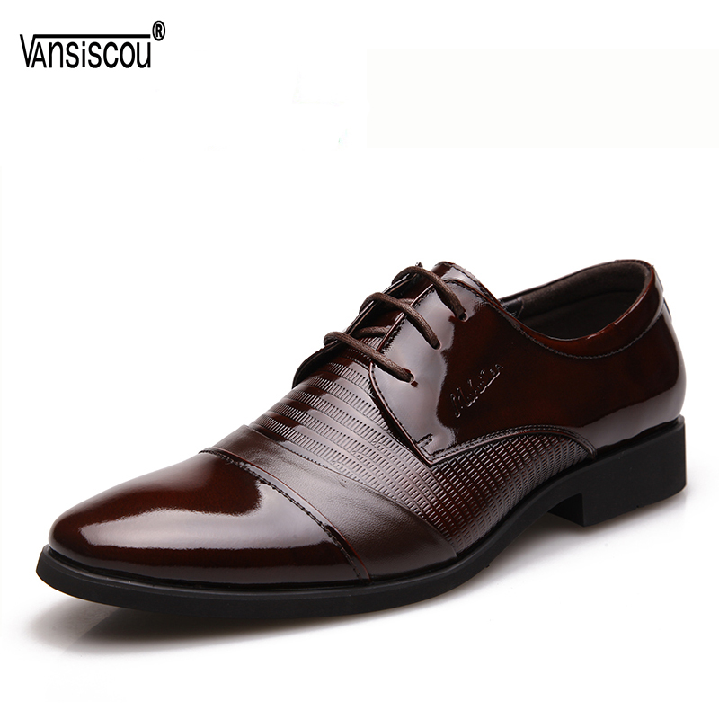VANSISCOU Painted New Men Dress Formal Shoe Fashion Genuine Leather Lace Up Flats Oxford Shoes Male Casual Business Wedding Shoe цена 2017