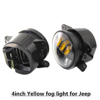 1Pair X Golden Color 4inch Led fog Lamp For Jee p, Most Powerful Led Light, Jee P wrangler accessories Jk