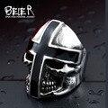 Beier Нержавеющей Стали 316L кольцо Новый Дизайн крест черный Клей Властная череп мужчины кольца Мода JewelryBR8-361