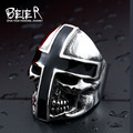 Beier  316L  Stainless Steel ring  New Design cross black Glue  Domineering skull  men ring Fashion JewelryBR8-361