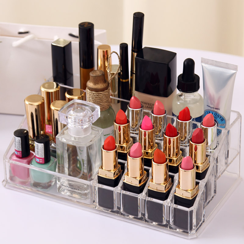 Size L Acrylic Makeup Organizer Bathroom Desk Cosmetic Storage Rack Clear  Cosmetic Organizer Box For Lipstick Makeup Brush In Storage Boxes U0026 Bins  From Home ...