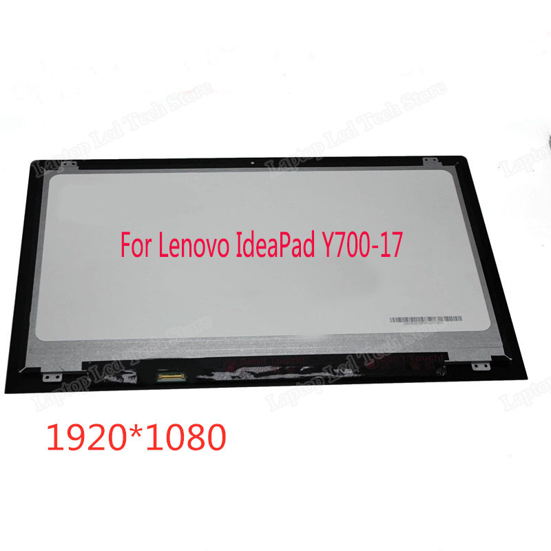 17.3 Inch Front Glass Display Screen Assembly For Lenovo IdeaPad Y700-17 Y700-17ISK Non-Touch LED LCD LP173WF4-SPF1 IPS LCD