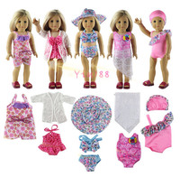 5 Set Doll Clothes For 18 American Girl Doll Handmade Swimwear Swimsuit Outfit