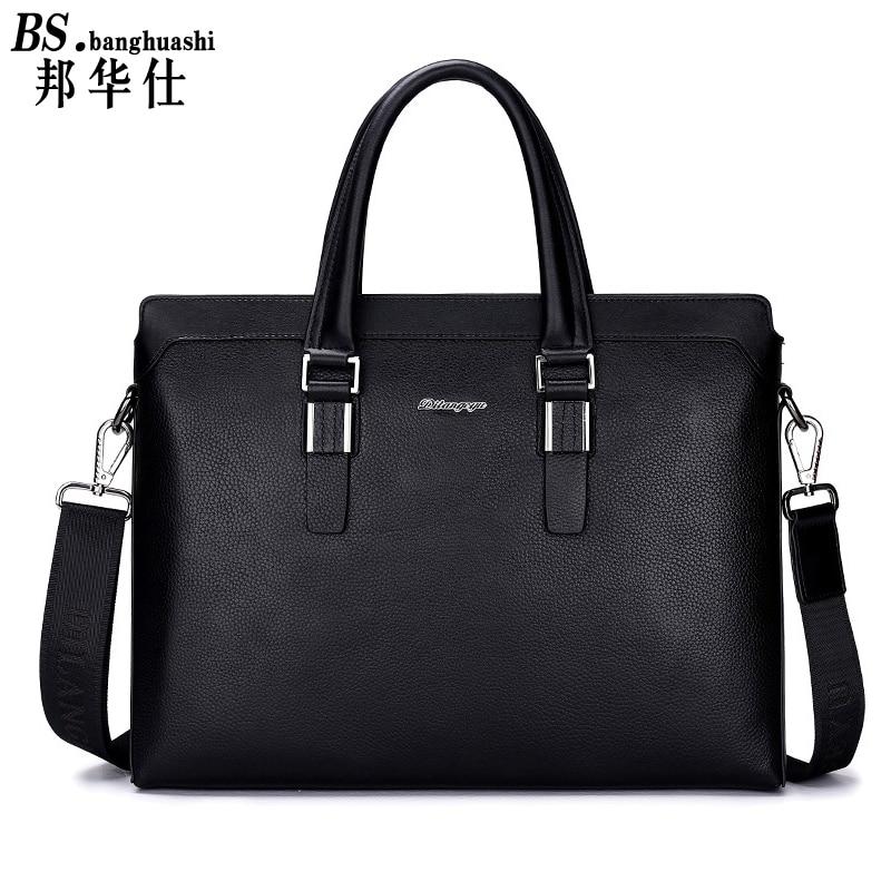 Business Casual Men Messenger Messenger font b Bag b font Large Leather font b Bag b