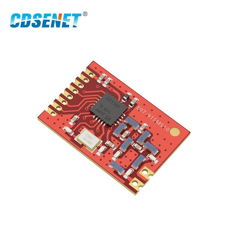 Беспроводной радиочастотный модуль CDSENET iot SMD 915 МГц, 1 шт., CC1101, 915 МГц, с большим радиусом действия, SPI, чип CC1101