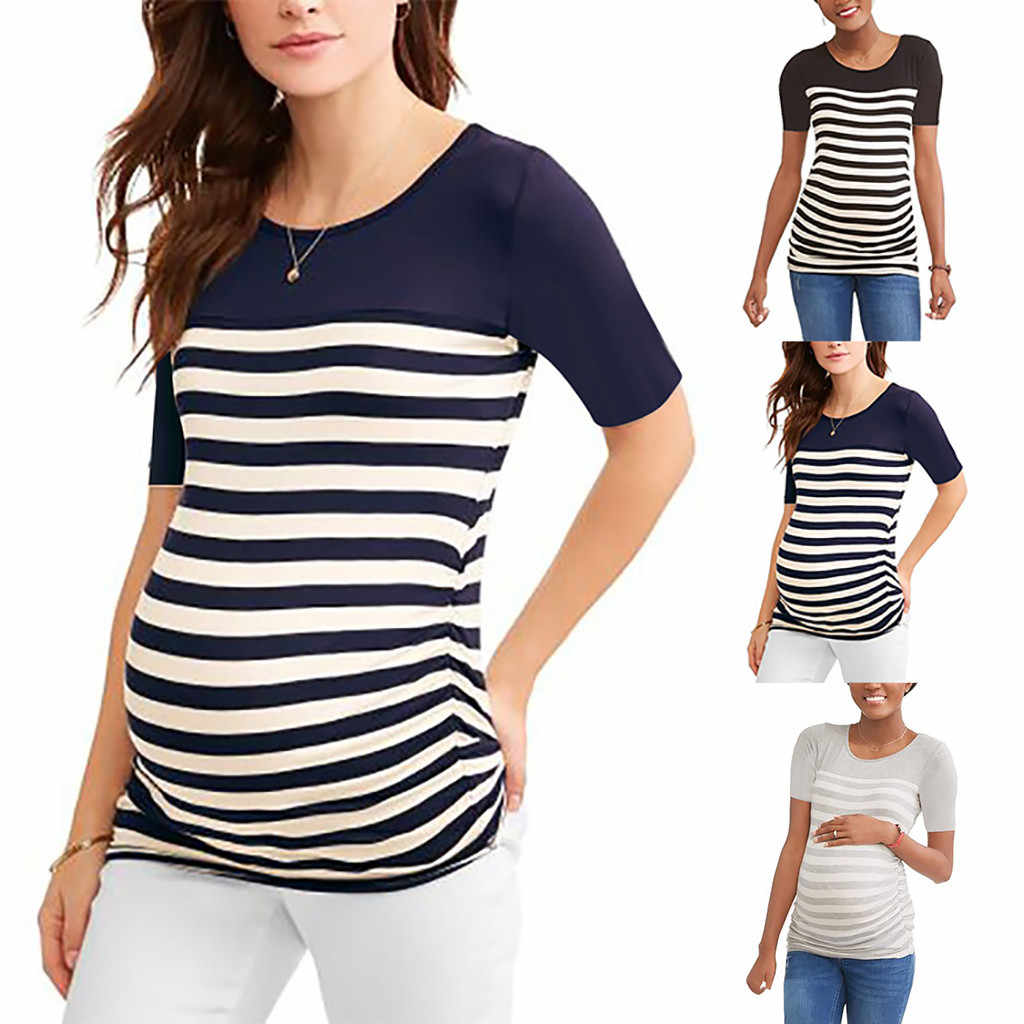eb02cd562e0 Women s Loose Maternity Clothes Pregnant Shirts Casual Long Sleeve V Neck  Pregna nursing tops t shirt