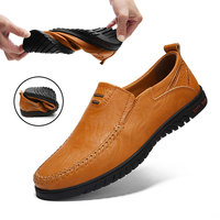 QASDUO Men Genuine Leather Loafers Shoes Driving Moccasins Soft Leather Slip On Flat Shoes Boat Zapatos Hombre men 39 s shoes