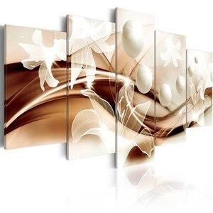 Image 2 - Diy モザイクダイヤモンド塗装ダイヤモンド刺繍クロスステッチ平方ダイヤモンドの家の装飾絵画トリプティク蘭 5 ピース/セット gx