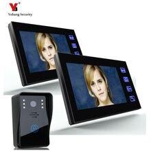 Yobang Security freeship Wired Touch Key 7″ Video Door Phone Video Intercom System outdoor security camera door intercomdoorbell