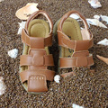 Boys and girls beach sandals kids 10017 leather 2017 new comfortable soft bottom girls beach shoes shoes sandals