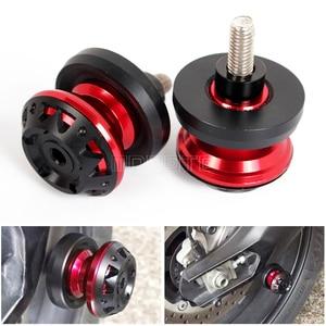 For YAMAHA MT01 mt 09 01 MT09 R15 V T MAX 530 MT 25 FZ1 FZ9 CNC Aluminum Swingarm Spools Slider For ducati MONSTER 821 959 899