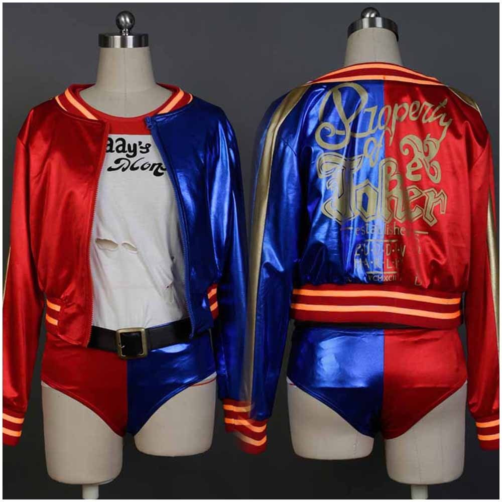 Batman Costume Suicide Squad Harley Quinn Dress Uniform Halloween Suit For Christmas Halloween Carnival For Women full set
