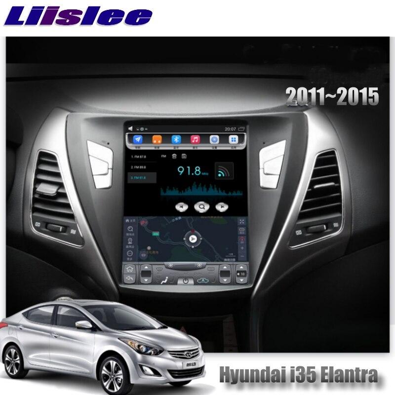 For Hyundai i35 Elantra Avante MD UD 2011~2015 NAVI LiisLee Car Multimedia Player GPS Maps WIFI Audio CarPlay Radio Navigation 7