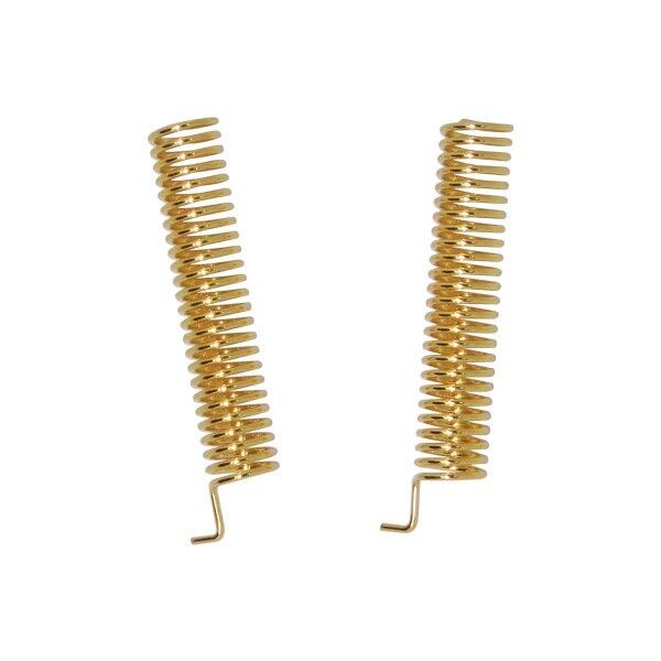 bilder für 100 teile/los SW433-TH22-22mm goldene überzogene RF 433 MHz frühling antennen