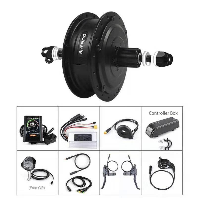 E bike Conversion Kits Rear Wheel Hub Motor Kits D Rotary Flywheel No Wheel Bafang 48V