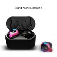 Newest Mini Bluetooth Earphone Port Cordless Wireless Earbuds Stereo In Ear Bluetooth 5.0 Waterproof Wireless Ear Buds Earphone