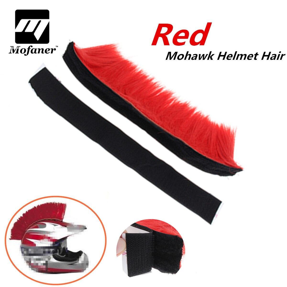 Mofaner Motocross Racing Mohawk Casque Cheveux Punk Cheveux Pour Moto Casque Ski Snowboard Paintball Vélo Planche À Roulettes Course