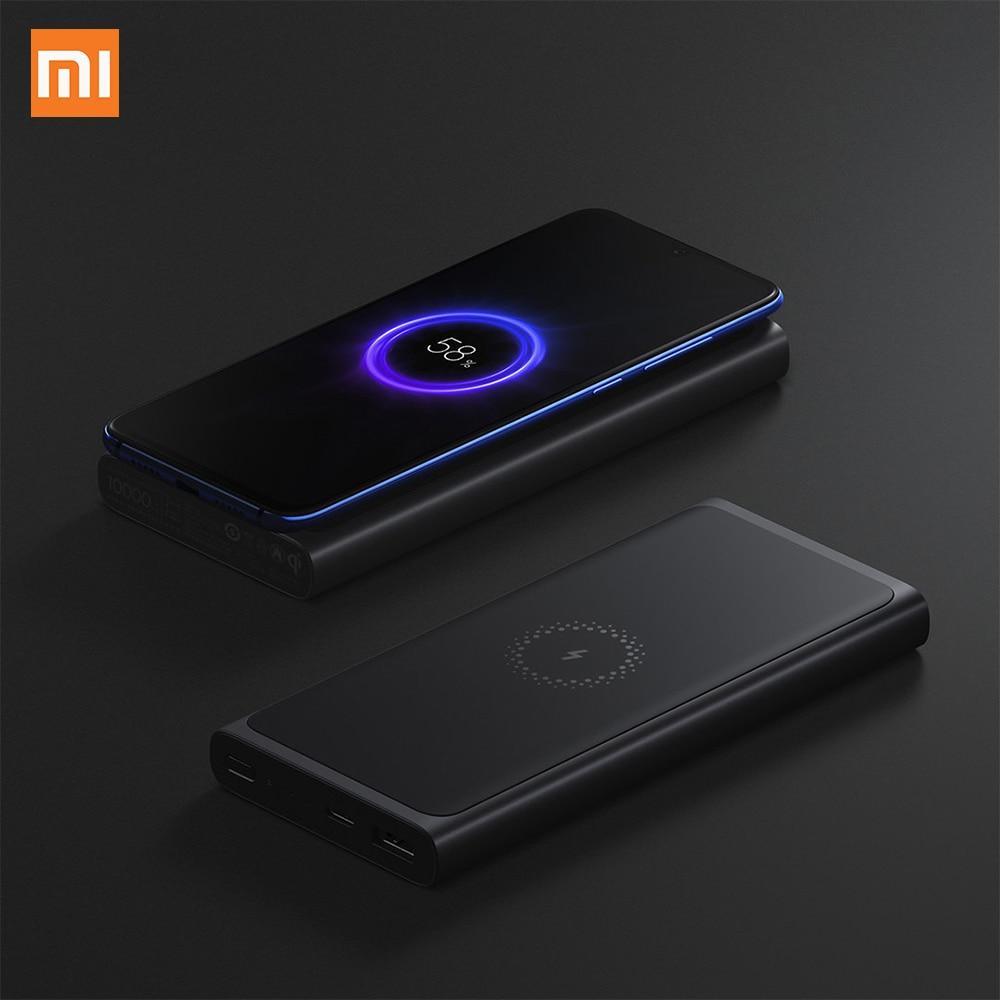 Chargeur Portable sans fil Xiao mi batterie externe qi chargeur Portable sans fil 10000 mAh mi chargeur rapide 18 W USB-C pour IPhone Samsung Xiao mi