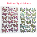 2 sheets animal Butterfly sticker Classic toys kids Kindergarten students toys gift Notebook Label Decoration
