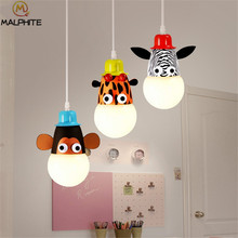 boy or girl room Cartoon pendant light simple children cartoon Monkey hanging pendant lamps protective eyes lighting fixtures(China)