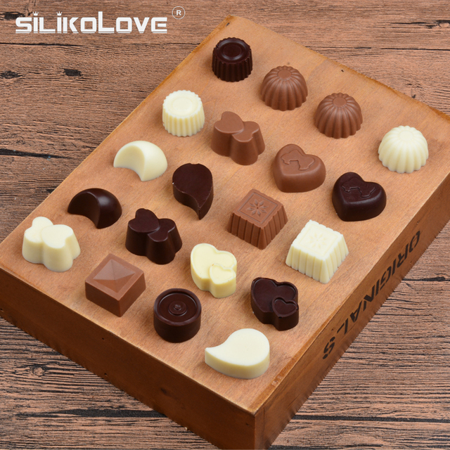 SILIKOLOVE 3D Chocolate Mold Silicone Chocolates Molds for Baking Nonstick Jelly Pudding Sugarcraft Mould DIY Kitchen Bakeware 5