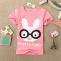 2016 summer Girls boys t-shirts Children Baby Blouse kids clothes cartoon rabbit print Mashimaro cotton Tops&Tees accessories