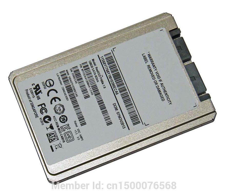NEW 128GB 1 8 Micro SATA SSD FOR HP 2740p 2730p 2530p 2540p IBM x300 x301