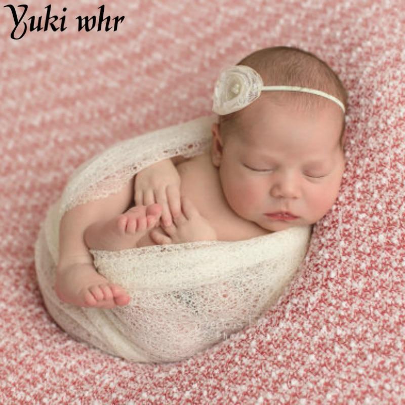 Useful 50*160cm Stretch Knit Wrap Newborn Photography Props Baby Kids Rayon Wraps Maternity Scarf Hammock Swaddlings Women Shawl Hats & Caps