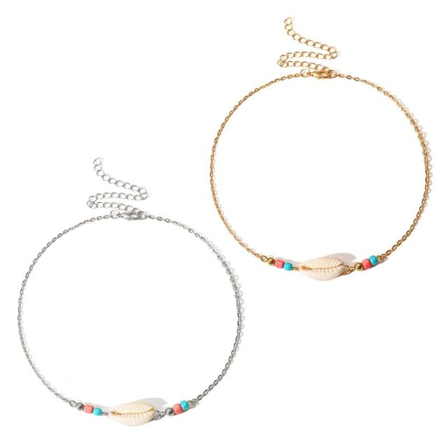 Jewelry Necklace Personality Shell Pendant Silver Gold Chain Thin Adjustable Choker Charms Women Gifts Party Fashion Luxury Simp