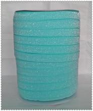 """(50 jardas/lote) Não-stretch 1.5 """"Fosco Glitter Fita Do Aqua"""