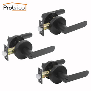 Probrico Wooden Door Lock Blac
