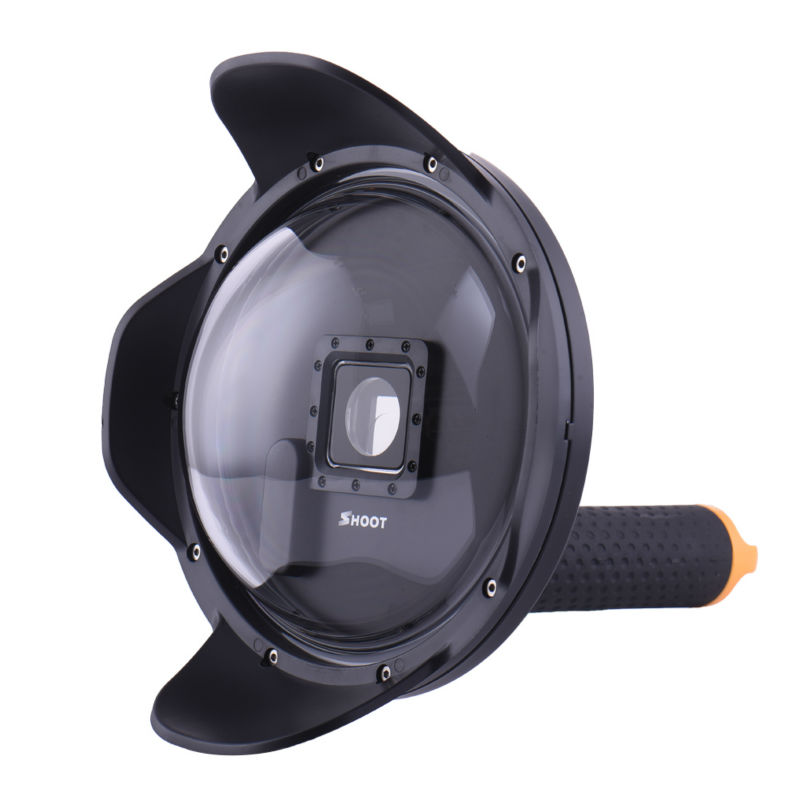 ФОТО 2.0 Version 6'' inch Diving Underwater Lens Hood Dome Len Cover Cap For gopro hero 3+ / 4 Action Sport Camera