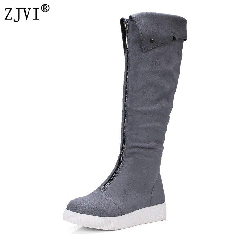 Negro Para Rebaño Mujer Nieve Del De Alta Muslo Zjvi Pisos gris Botas Mujeres Negro Nobuck Plataforma Rodilla 2019 Zapatos Altas pv0wqnZF