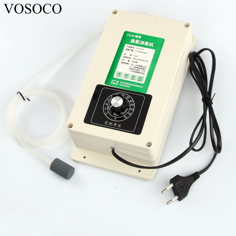 Ozone Generator Machine 2000mg/h with 60 minutes Timer for Fruits vegetables meat Food Water Air Sterilizer Purifier treatment portable active ozone generator sterilizer air purifier purification fruit vegetables water food preparation ozonator ionizator