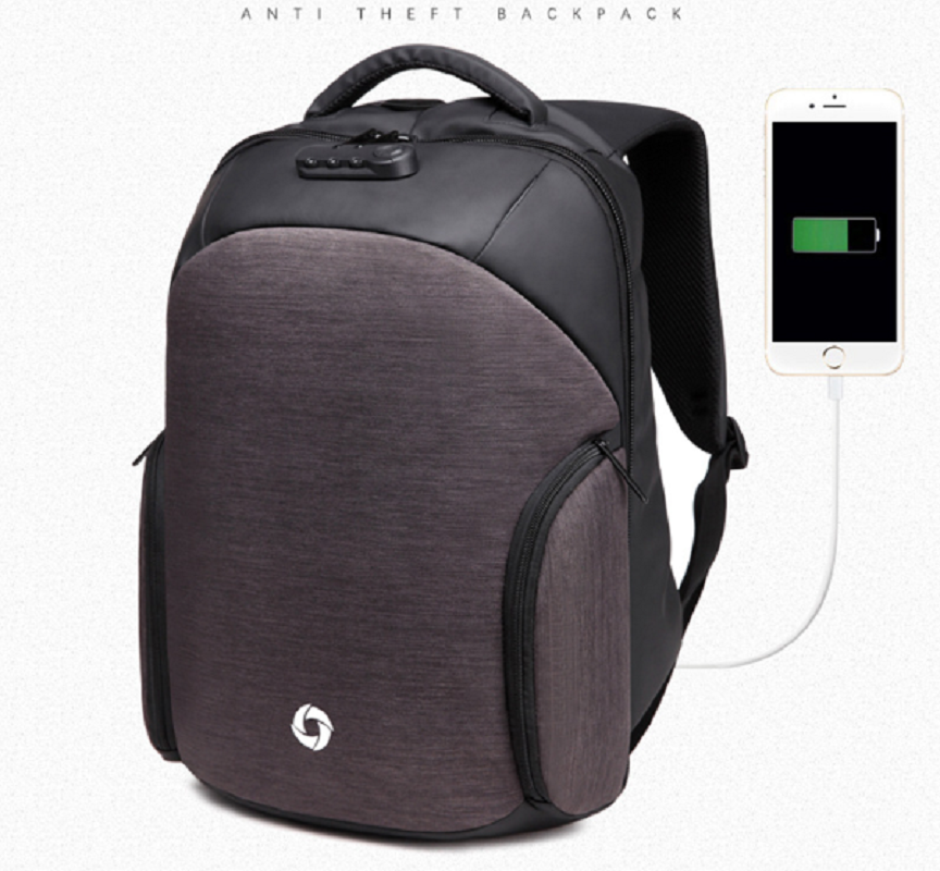 Ozuko New Waterproof Backpacks Usb Rechargeable Backpack Male Creative Casual Anti-theft Backpack Laptop Backpack