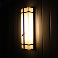 Outdoor Lighting Wall Lamps Waterproof European Style Led Exterior Wall Lamp Villa Simple Courtyard Outdoor Marble Stone Lights