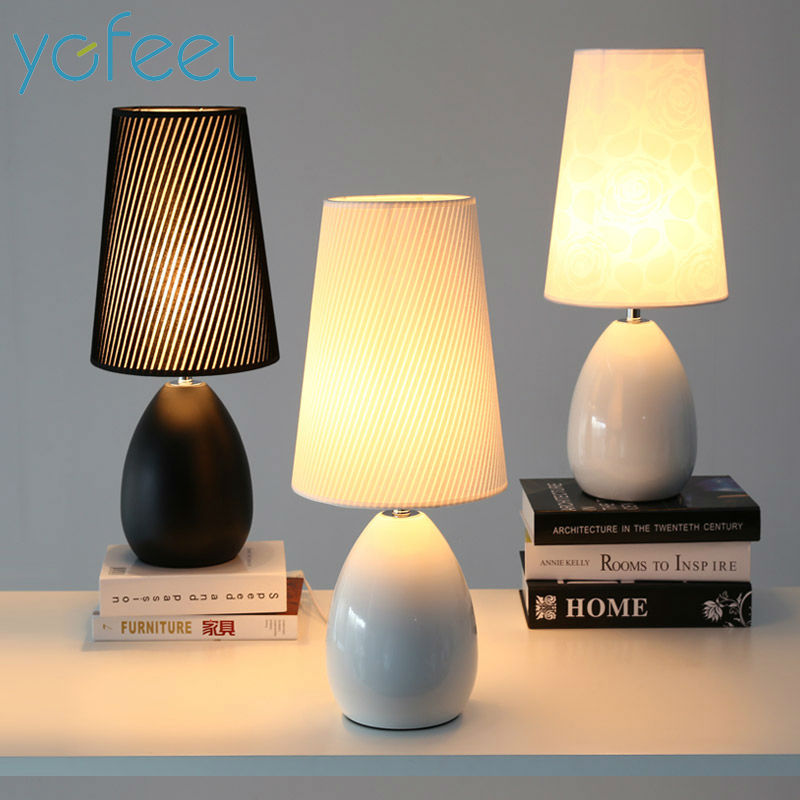 Modern Bedroom Table Lamps European Style Ceramic Fashion Simple Bedside Lamp Living Room Decoration Study Reading