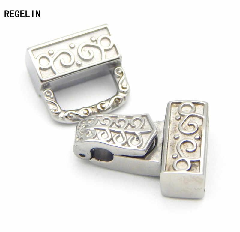REGELIN ze stali nierdzewnej rozmiar otworu 12.4*4mm mocne Zapięcia magnetyczne skórzane bransoletki rzemykowe zaślepki złącza do tworzenia biżuterii